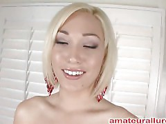 Arryn is one hawt little golden-haired with serious cum addiction. This Babe sucks wang like a champ and gets it unfathomable down her mouth. After some sloppy and wet rod engulfing this babe rides his weenie and gets her shaved cunt pounded. Then Arryn j
